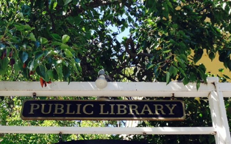 Sign for Occidental Library