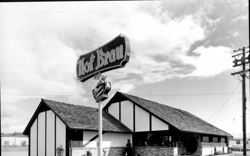 The Hof Brau Restaurant on Santa Rosa Avenue, Santa Rosa, 1961