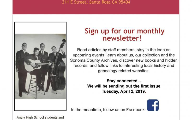 Monthly Newsletter Sign-Up image
