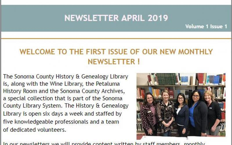 Cover Page Newsletter April 2019 photo