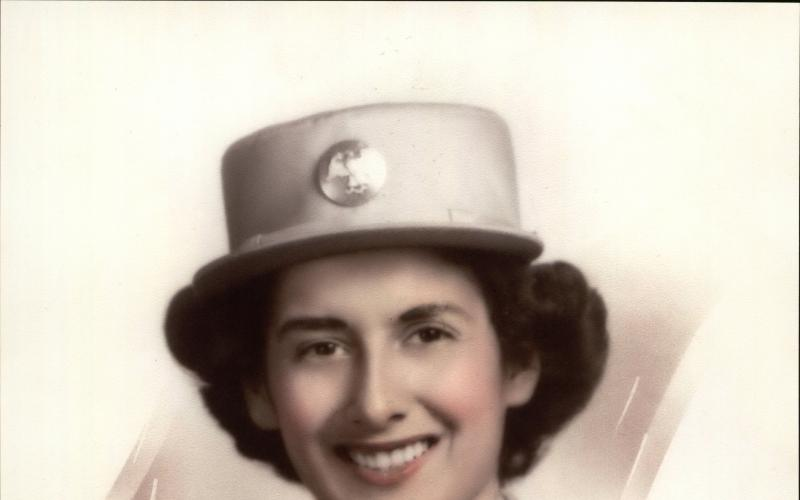 Patricia Talamantes of Petaluma in her WAC uniform, circa 1943