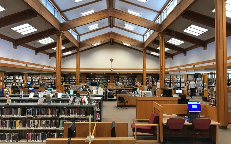 Quiet morning at Rincon Valley Library