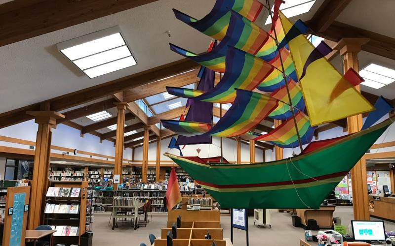 Children's area at Rincon Valley Regional Library