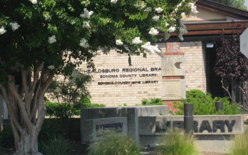 Front of Library Building