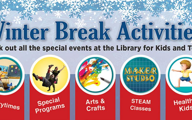 list of winter break events at the library