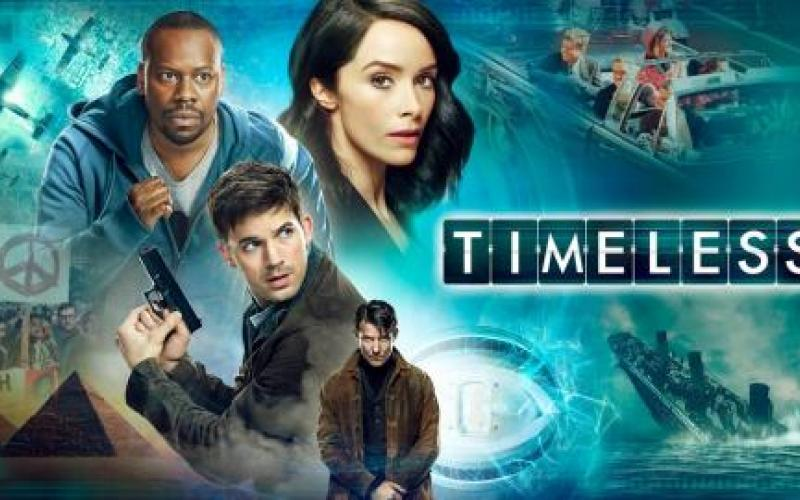 white woman, white man, black man - actors in the tv show Timeless