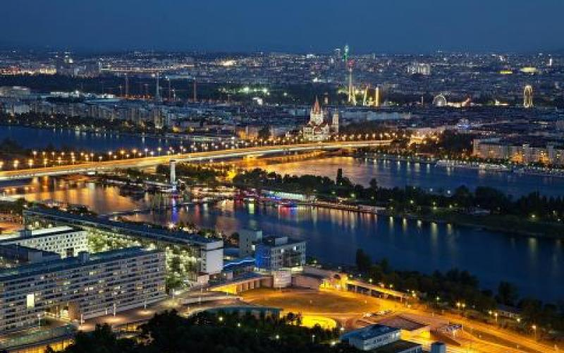 Evening Lights of Vienna photo