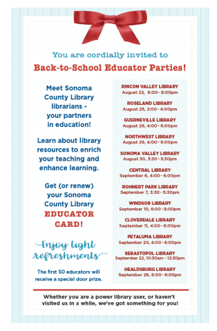 invitation to back to school events