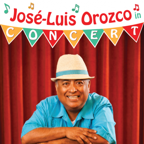 image of Jose-Luis Orozco advertising upcoming children's concerts