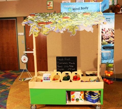 image of the farmer's market module of the Play and Learn Island