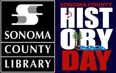 sonoma county library logo and sonoma county national history day logo