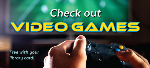 image of hands holding a video game controller with text: Video Games