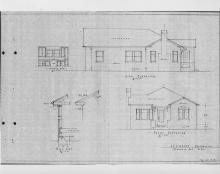 Architectural drawing of the Swint House photo
